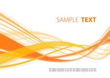 Orange Wellen Lizenzfreies Stockbild