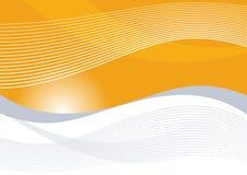 Orange Wellen lizenzfreie abbildung