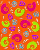 Orange Whirly Swirly Stockbild