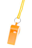 Orange whistle isolated Royalty Free Stock Images