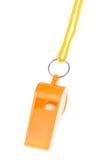 Orange whistle isolated Royalty Free Stock Images