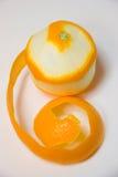 Orange on white. Royalty Free Stock Photo