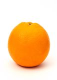 Orange on white. An orange isolated on a white background royalty free stock photo