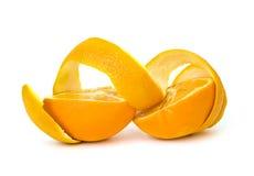 Orange on white Stock Images