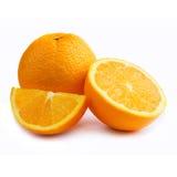 Orange in a white background Stock Photo