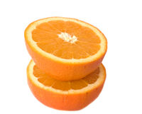 Orange on white background Stock Photo