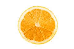Orange on a white background Stock Photography