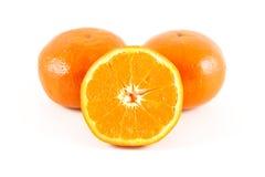 Orange. On the white background Stock Photos