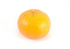 Orange on white background. Close up orange on white background Stock Images