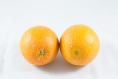 Orange on white background Royalty Free Stock Photography