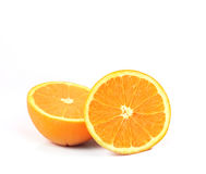 Orange on white background. Fresh orange on white background Royalty Free Stock Image