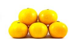 Orange on white background Royalty Free Stock Photo
