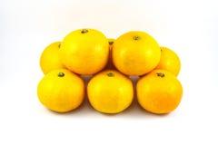 Orange on white background Royalty Free Stock Photos
