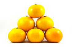 Orange on white background. Orange, fruit, juicy, background, circle, citrus, nature color cut drop droplet food fresh freshness health isolated many nutrition Stock Photography