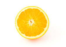 Orange on a White Background Royalty Free Stock Photos