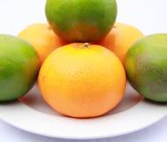 Orange on a white background. Orange isolated on a white background. Fresh fruits Isolated orange collection Royalty Free Stock Photography
