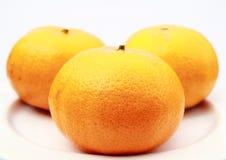 Orange on a white background. Orange isolated on a white background. Fresh fruits Isolated orange collection Stock Images