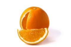 Orange on white background Royalty Free Stock Images