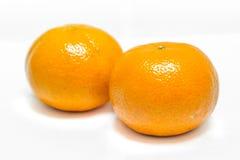 Orange on the white background. Royalty Free Stock Images