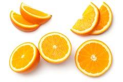 Orange on White Background royalty free stock image