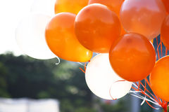 Orange and white balloons Royalty Free Stock Photography