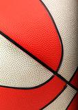 Orange and white basketball closeup Royalty Free Stock Photography