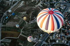 Orange White and Blue Hot Air Balloons during Daytime Stock Image