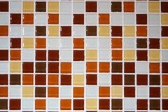 Orange white brown mosaic tiles,pattern seamless for decoration stock images