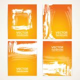 Orange and white brush texture on  banner set Royalty Free Stock Image