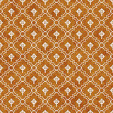 Orange and White Celtic Cross Symbol Tile Pattern Repeat Backgro Stock Photo