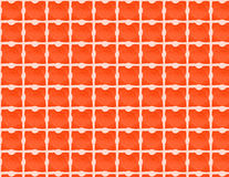 Orange and white checked  pattern Stock Images