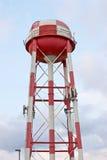 Orange & White Checkered Water Tower Royalty Free Stock Photos