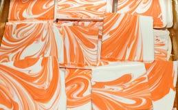 Orange and White Chocolate Stock Photo
