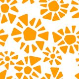 Orange and white colorful stained glass triangle shape flowers mosaic geometric seamless pattern, vector stock illustration