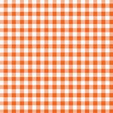 Orange White Gingham. Digital Orange and White Gingham with fabric texture royalty free stock photos
