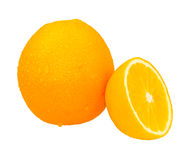 Orange on white isolate background for design project. Royalty Free Stock Photography