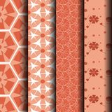 Orange and white lace pattern. Can be used endlessly Royalty Free Stock Photo