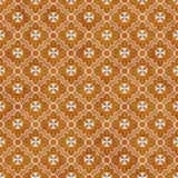Orange and White Maltese Cross Symbol Tile Pattern Repeat Backgr Stock Image