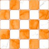 Orange and white marble square floor tiles with gray rhombs and gap seamless pattern Stock Images