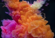 Orange, White, and Pink Smoke Digital Wallpaper stock images