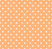 Orange with white polka dots Stock Image