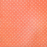 Orange and white polka fabric Royalty Free Stock Photos
