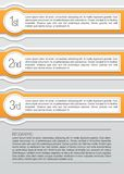 Orange and white rounded infographic lables Royalty Free Stock Photography
