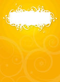 Orange White Vintage Flyer Royalty Free Stock Photo