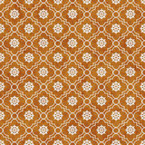 Orange and White Wheel of Dharma Symbol Tile Pattern Repeat Back Stock Photography