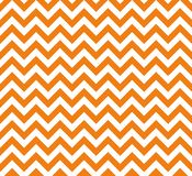 Orange and white Zig zag seamless vector pattern stock illustration