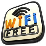 Orange Wifi Free Internet Royalty Free Stock Photos