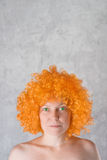 Orange Wig Stock Image