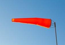 Orange Wind Indicator Stock Images