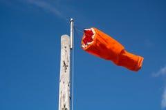 Orange Windsock Stockfoto